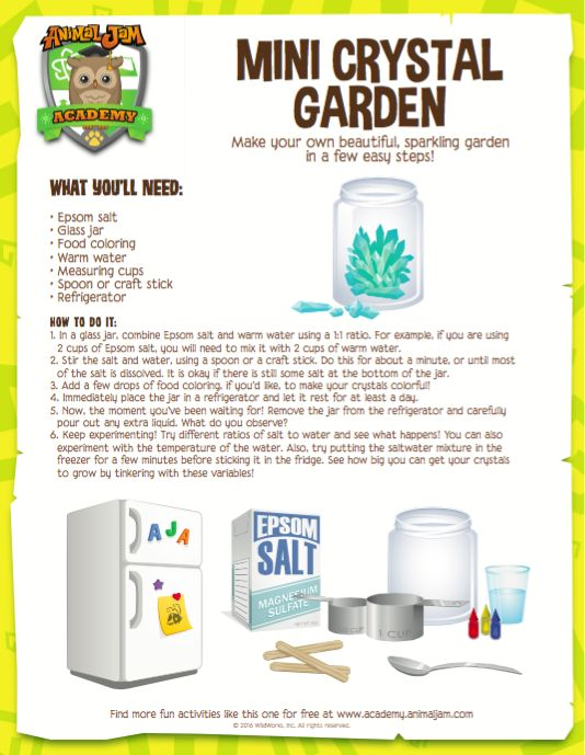 crystal growing 4m instructions