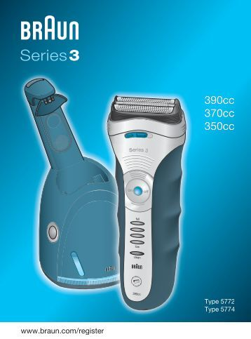 braun series 3 390cc cleaning instructions