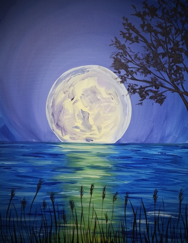 illuminate canvas paintings for christmas step by step instructions