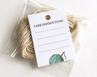 crochet care instructions labels