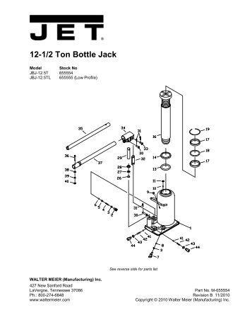 black jack bottle jack instructions