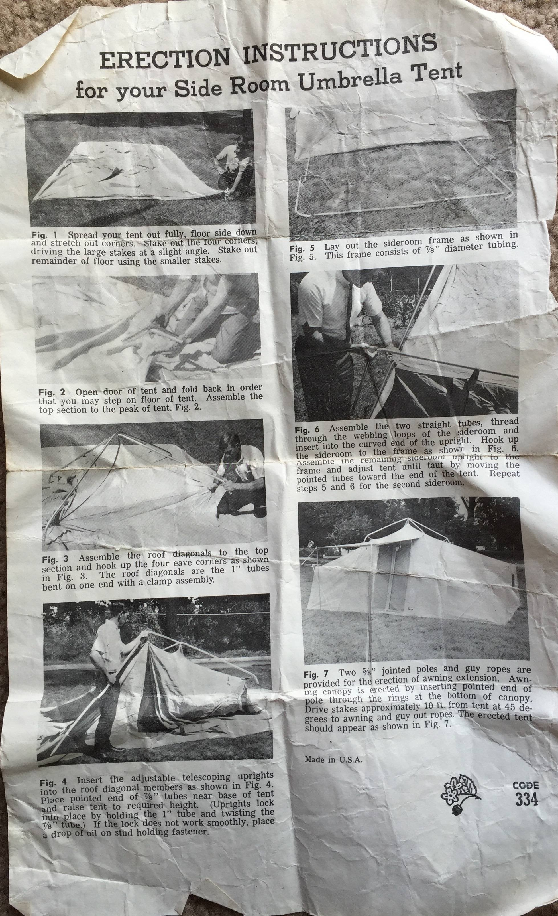 set up instructions for hillary tent model 308.752340