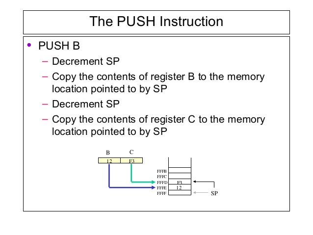 pchl instruction in 8085 with example