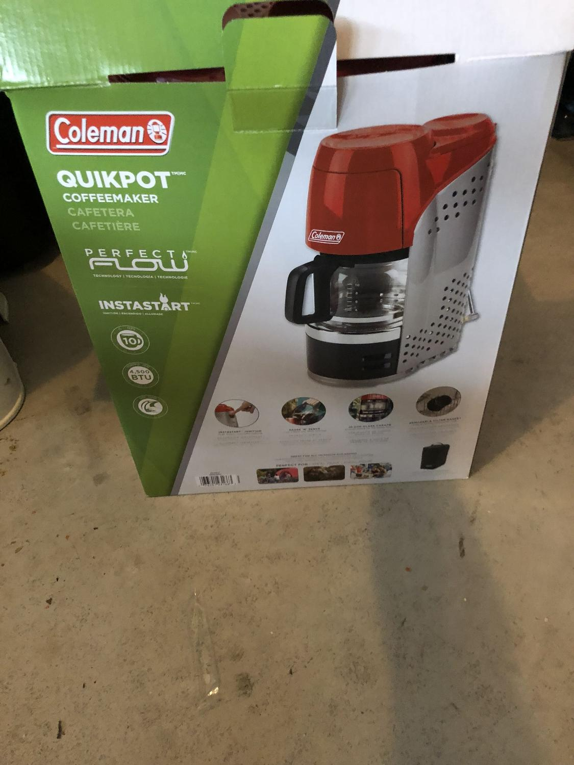 coleman propane coffee maker instructions