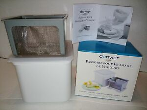donvier yogurt cheese maker instructions