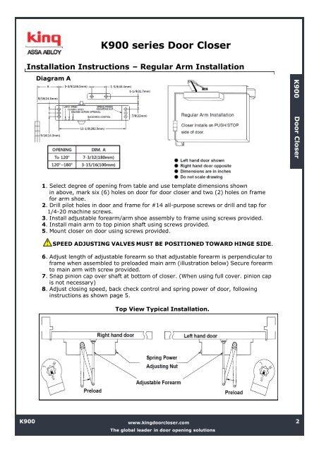 door closer 1700 install instruction