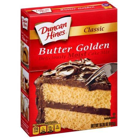 duncan hines butter golden cake mix instructions