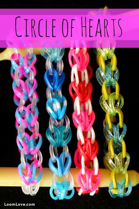 heart friendship bracelet patterns instructions