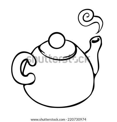 line drawing tea instruction