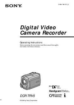 instruction manual for the sony dcr-hc 28
