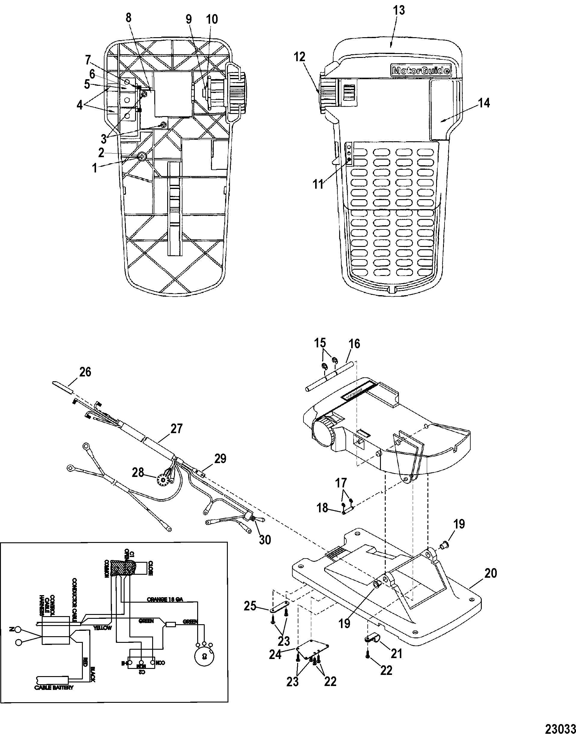 motorguide wireless foot pedal instructions