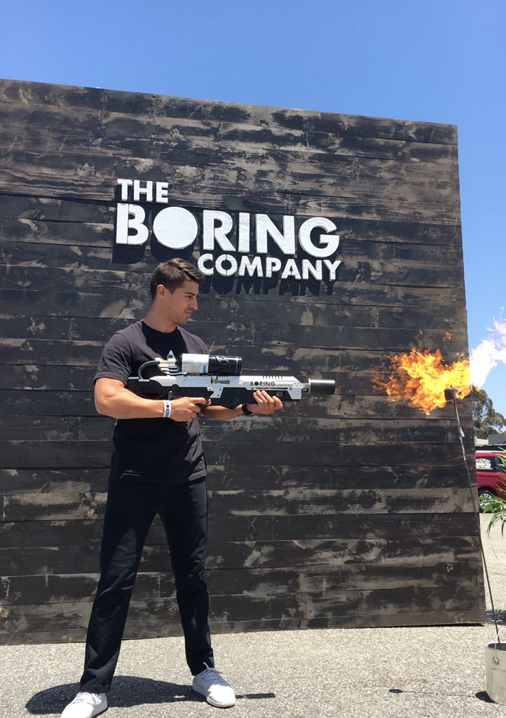 instructions boring company flamethrower warning