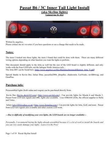 audi b7 tail lights install dectane instructions