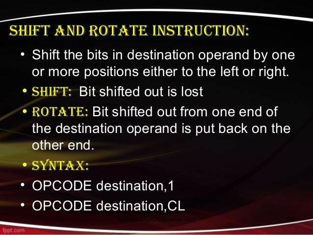rotate instruction in ivrine with example
