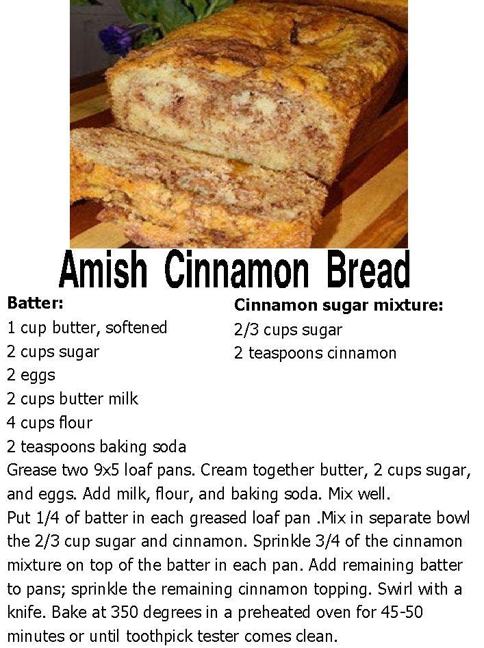amish cinnamon bread starter instructions