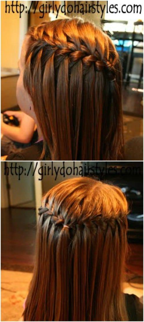 waterfall hair braid instructions