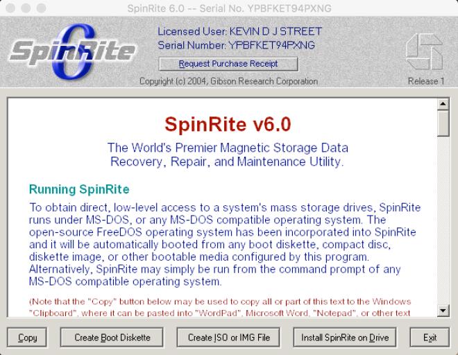 spinrite 6.0 instructions