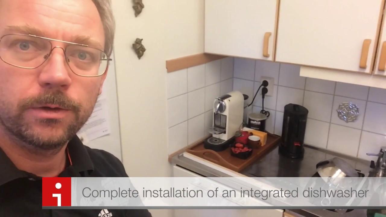 bosch dishwasher installation instructions video