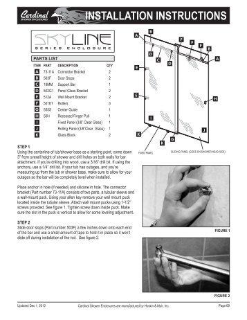 cardinal skyline installation instructions