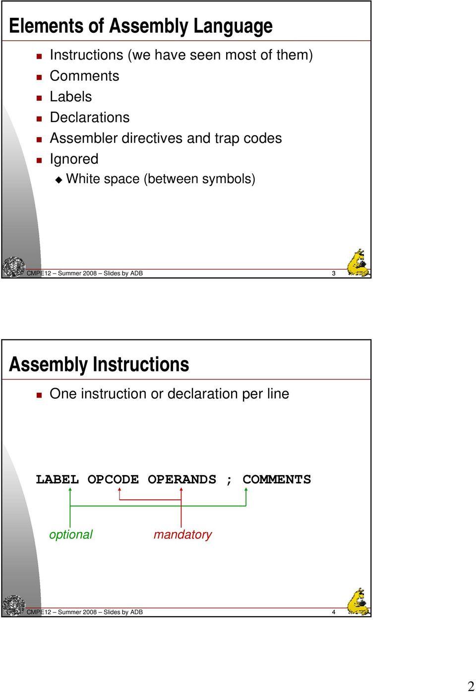 assembly language go to instruction