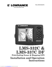 lowrance lms 337 french instructions