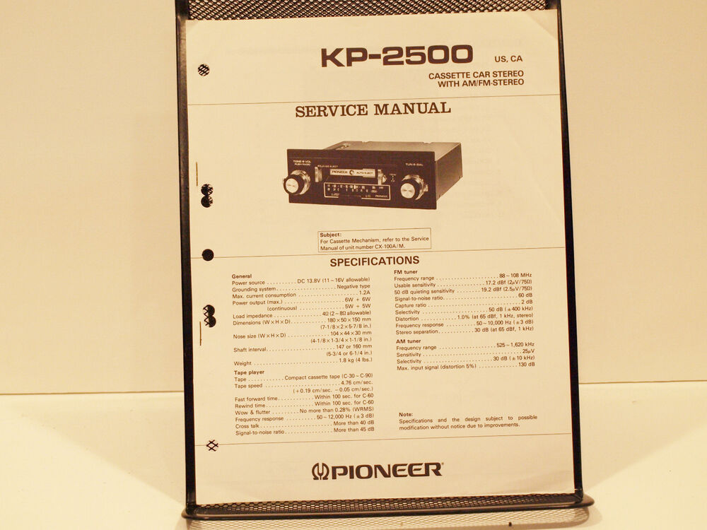 pioneer car stereo removal instructions
