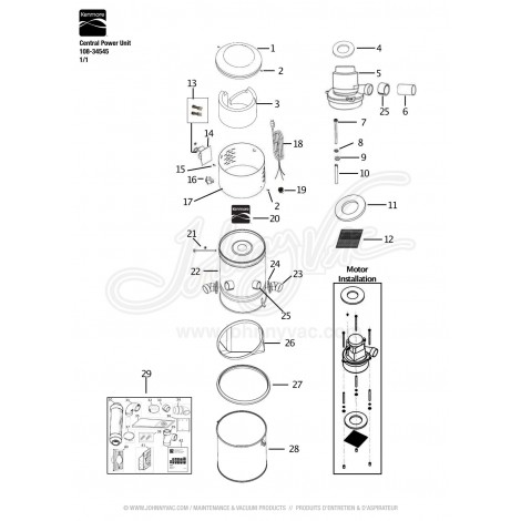 aspirateur central kenmore model s107 manuel instruction