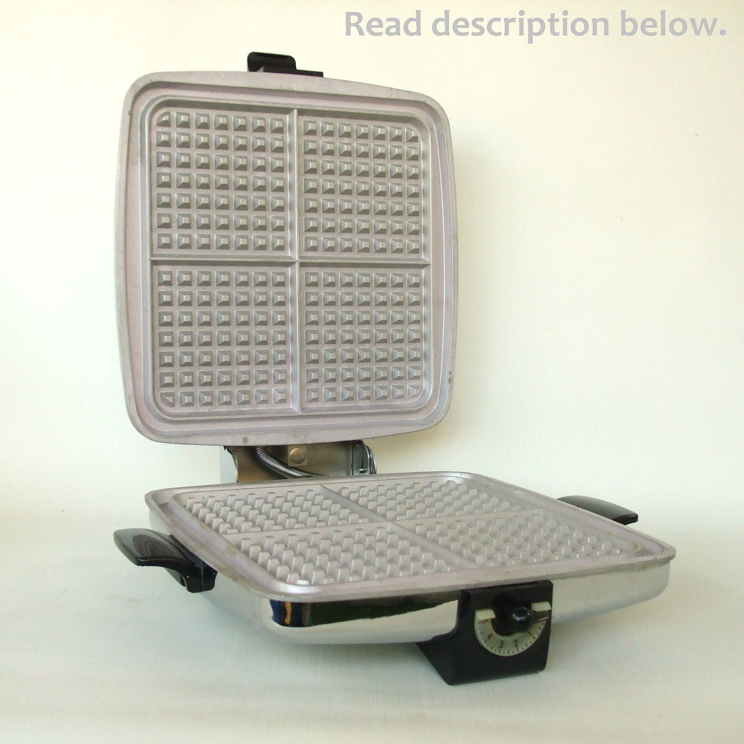 general electric automatic grill waffle baker instructions