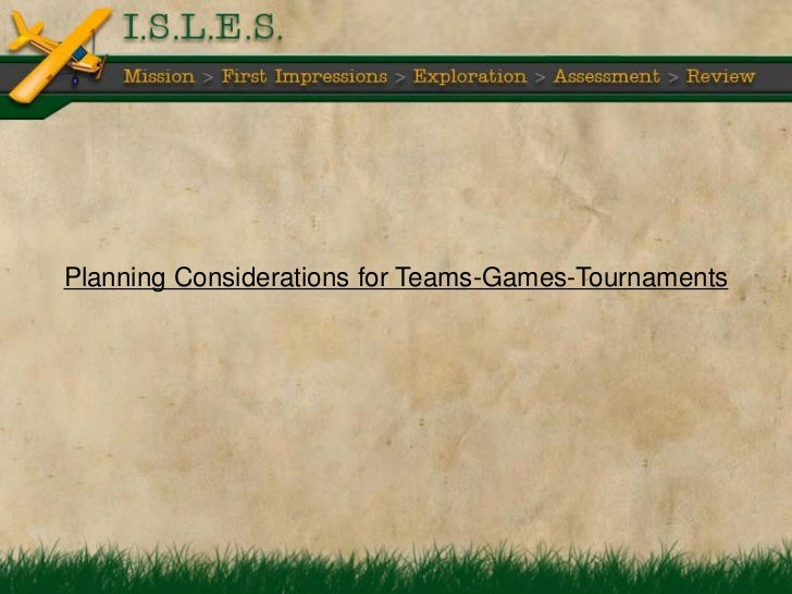 instructional strategy team games tournaments