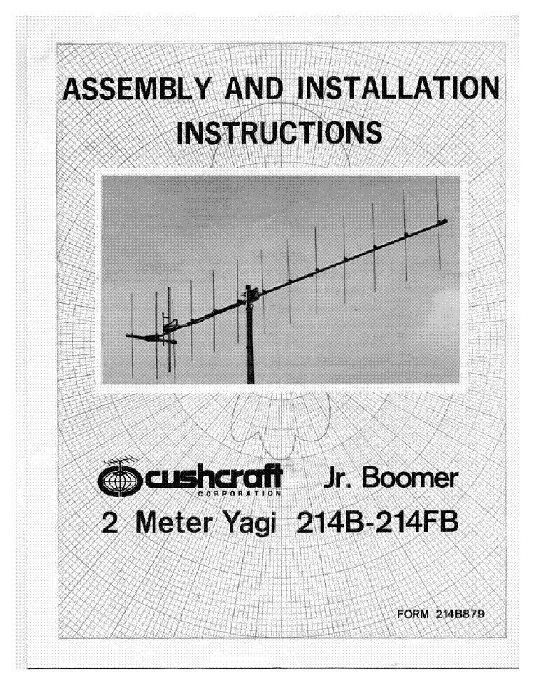 ma5v cushcraft installations instructions