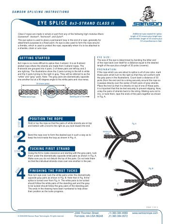 3 strand rope to chain splice instructions