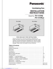 fv-11vhl2 installation instructions
