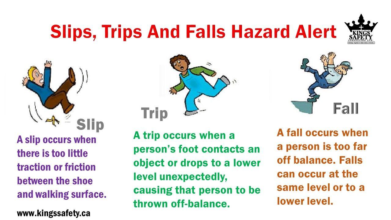 safe work instructions for trips slips falls