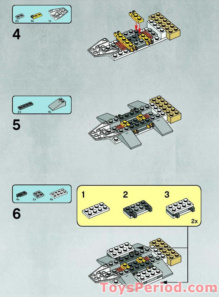 7666 hoth rebel base instructions