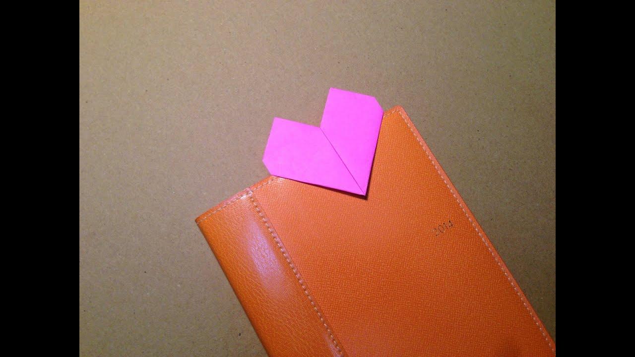 origami blosem heart instructions