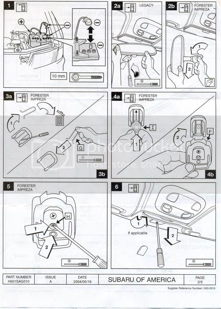 subaru homelink mirror instructions