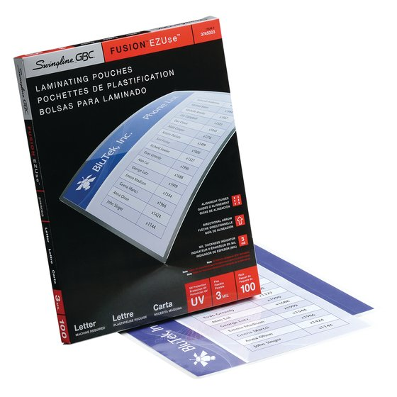 swingline gbc laminating sheets instructions