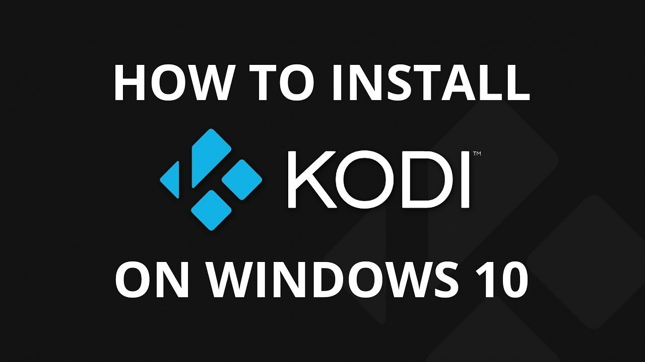 kodi windows setup instructions