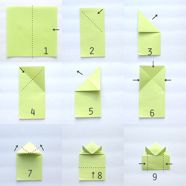 origami frog instructions video