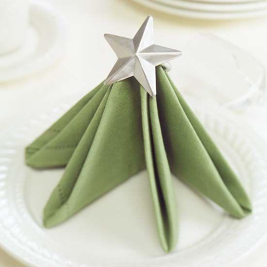 instructions on folding christmas napkins