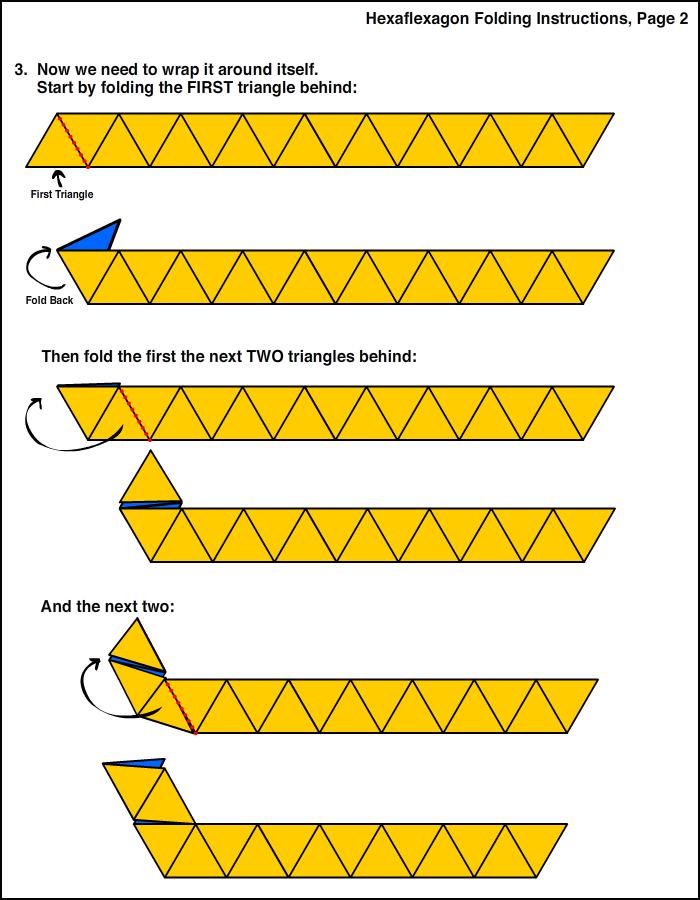 flexagon origami folding instructions
