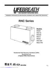 tradewinds by lifebreath rnc10 instruction manual