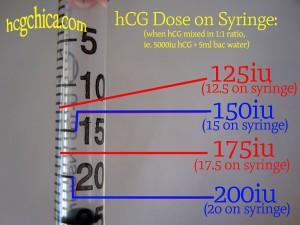 hcg diet mixing instructions 5000 iu