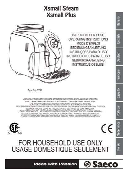 prima coffee machine instructions