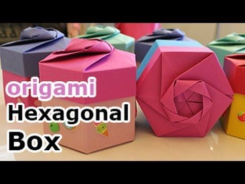 origami box instructions hexagon