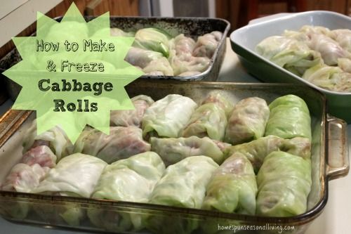 cooking instructions for frozen cabbage rolls