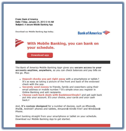 bank of america mobile deposit instructions