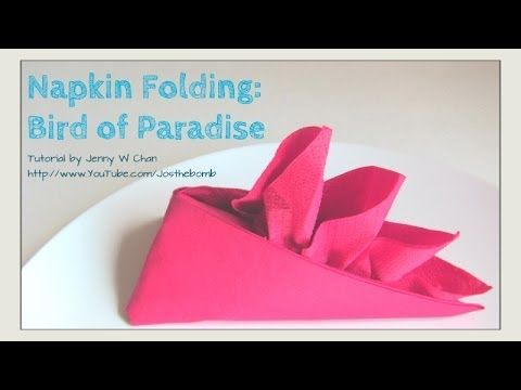 bird napkin folding instruction