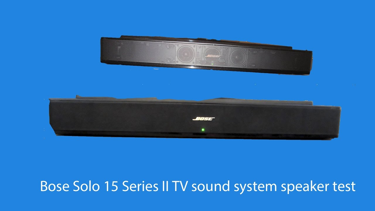 bose solo 15 tv sound system instructions