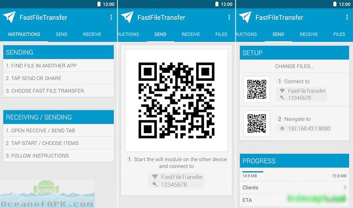 fast file transfer android instructions